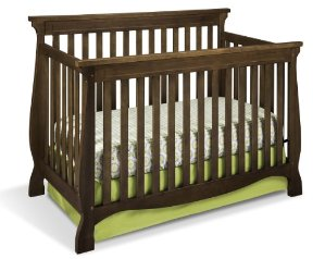 Stork Craft Carrara Convertible Crib, Dove Brown