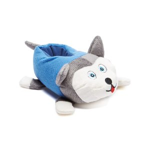 Chatties Gray & White Husky Slipper | zulily