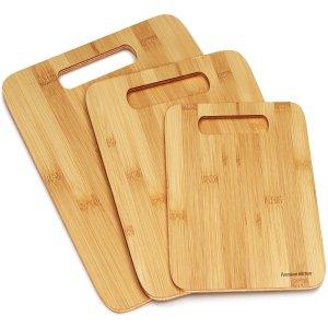 Best 3 Wood Cutting Boards -Premium Chopping Board Block -Large Medium Small Size Set