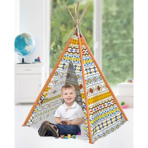 American Kids Tee-Pee Play Tent, Tribal Aztec