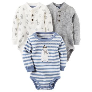 Baby Boy 3-Pack Bodysuits | Carters.com