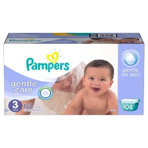 Pampers Gentle Care Diapers Giant Pack (Assorted Sizes) : Target