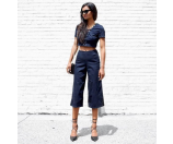 Push-Up Denim Culottes with Silicone Rinse | GUESS.com