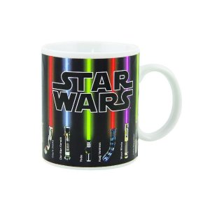 Star Wars Lightsaber Coffee Mug, Sabers Beam Up with Hot Liquid Added