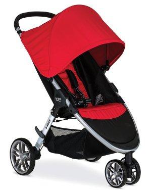 Britax 2016 B-Agile 3 Stroller, Red