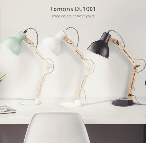Starting from $26.94 Tomons Scandinavian Swing Arm Wood Desk Lamp