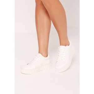 Flatform Creepers White - Missguided