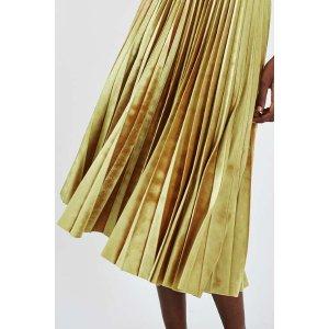 TALL Velvet Pleated Midi Skirt - Sale - Sale & Offers - Topshop USA