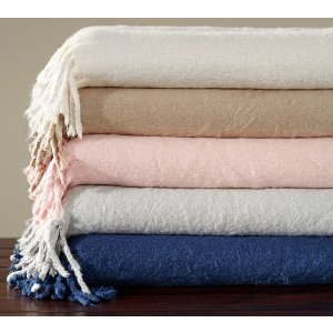 Solid Faux Mohair Oversized Throw | Pottery Barn