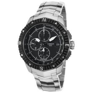 Tissot T0624271105700 Watches,Men's T-Navigator Automatic Chronograph Stainless Steel Black Dial SS, Luxury Tissot Automatic Watches