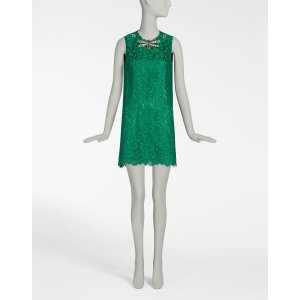 Cordonetto lace a line dress with jeweled embellishments