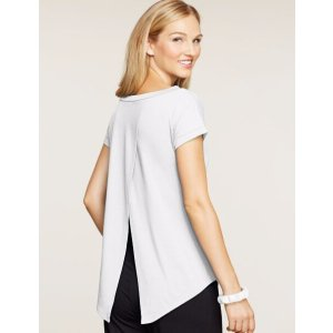 Hanes Signature Soft Luxe Tulip Back Top