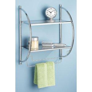 Shelves and Towel Rack - Towels Racks - Bathroom Organization - Bath | HomeDecorators.com