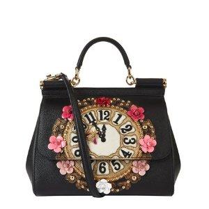 Dolce & Gabbana Medium Sicily Clock Top Handle Bag | Harrods
