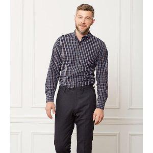 Grant Check Point Collar Shirt - JackSpade