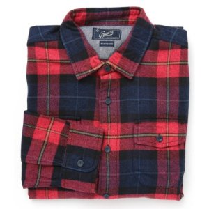 Grayers Men's Lawrence Red Plaid Flannel Button Down Shirt