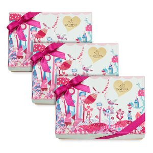 Valentine's Day Slices of Love Chocolate Gift Box, Set of 3, 6 pc. each | GODIVA