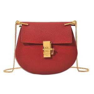 Drew Small Shoulder Bag Chloé Red - Monnier Frères