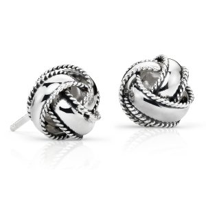Roped Love Knot Earrings in Sterling Silver | Blue Nile