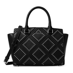 MICHAEL Michael Kors Selma Medium Diamond Grommet Leather Satchel @ Lord & Taylor