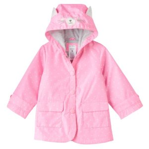 Baby Girl Carter's Polka-Dot Water-Resistant Rain Jacket