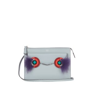 Mini 2Jours leather and fur cross-body bag | Fendi