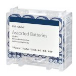 Insignia Assorted Batteries with Storage Box (33-Pack) White / Blue