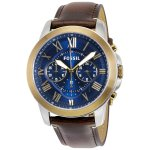 Fossil Men's FS5150 Grant Chronograph Dark Brown Leather Watch