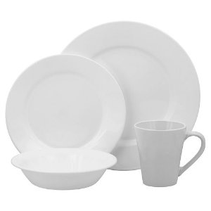2016 Black Friday! $42.49+$10MIR Corelle Lifestyles Shimmering White Round 16-pc. Dinnerware Set