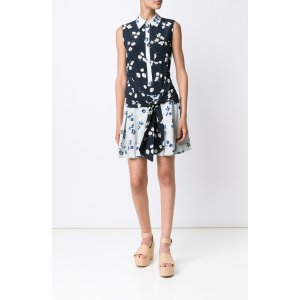 Midnight Multi - S/L Tie Waist Dress