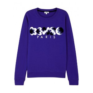 Kenzo Popcorn blue cotton sweatshirt
