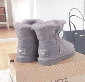 $89.99 UGG Mini Bailey Button Bling @ 6PM.com