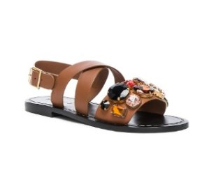 Marni Jewel Leather Sandal