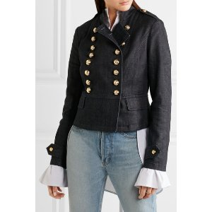 Burberry | Double-breasted denim jacket | NET-A-PORTER.COM