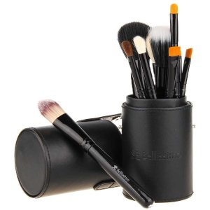 Bellissimo Cosmetics Makeup Brush Set – 12 Piece Collection Comes with Cup Holder