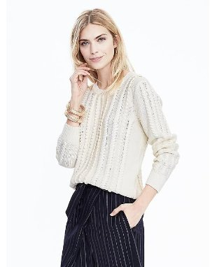 From $34 Sweaters @ Banana Republic