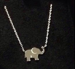 $15.77(reg.$19.95) Sterling Silver Elephant Necklace ,18