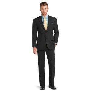 Executive 2 Button Tailored Fit Suit Plain Front Trousers