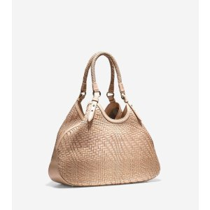 Genevieve Large Triangle Tote Bag in Sandstone