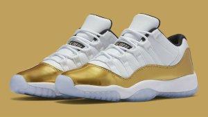 $170 Metallic Gold Air jordan Retro 11 Olympic Low @ FinishLine.com