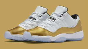 $170 Metallic Gold Air jordan Retro 11 Olympic Low @ FinishLine.com