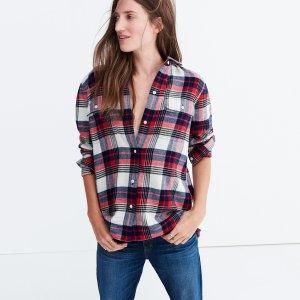 Flannel Classic Ex-Boyfriend Shirt in Drayton Plaid