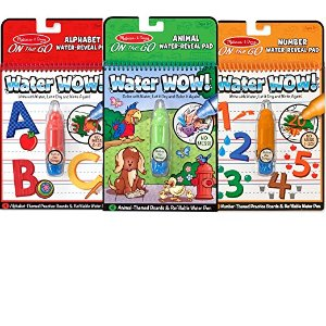 Amazon.com: Melissa & Doug On the Go Water Wow! Activity Book, 3-Pack - Animals, Alphabet, and Numbers: Melissa & Doug: Toys & Games