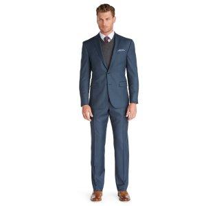 Traveler Collection Slim Fit Sharkskin Suit - Traveler Suits   Jos A Bank