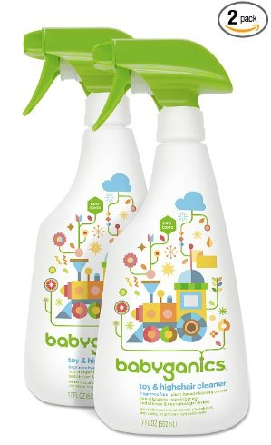$7.58 + Free Shipping Babyganics Toy & Highchair Cleaner, 17-Fluid Ounce Bottles (Pack of 2), Packaging May Vary