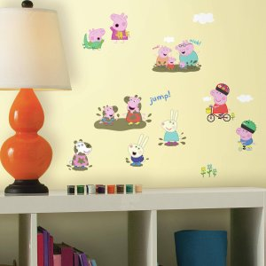 RoomMates Peppa the Pig Peel and Stick Wall Decals - Walmart.com