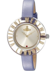 £99.00(reg.£150.00) Vivienne Westwood Clarity Women's Quartz Watch with Silver Dial Analogue Display and Beige Leather Strap VV032BG