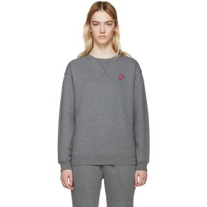 McQ Alexander Mcqueen: Grey Embroidered Pullover