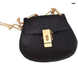 Black Leather Handbag Drew