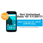Get UNLIMITED Talk, Text, & Data w/ Moto E, 2nd Gen LTE - FreedomPop